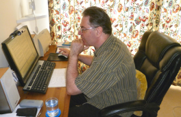 Author at the Computer